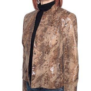 Worth Genuine Leather Snakeprint Jacket
